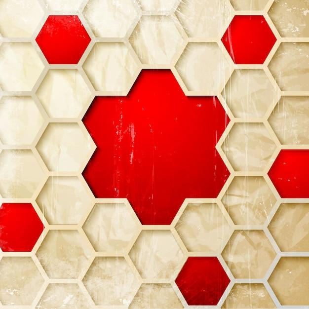 Abstracte zeshoek achtergrond. Gratis Vector