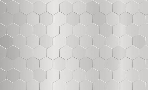 Abstracte zeshoek patroon grijze achtergrond. Premium Vector