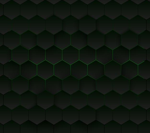 Abstracte zeshoekige achtergrond Premium Vector
