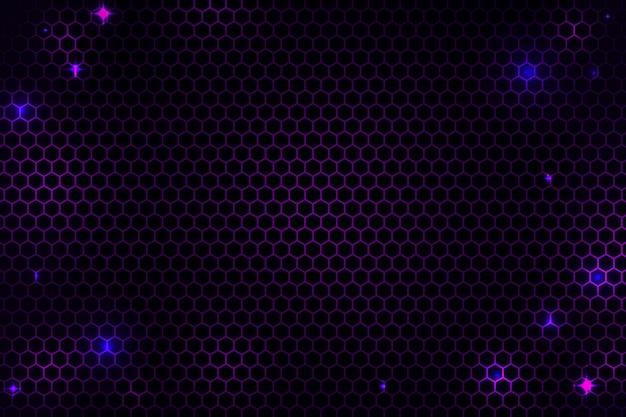 Abstracte zeshoekige cyber netto achtergrond Gratis Vector