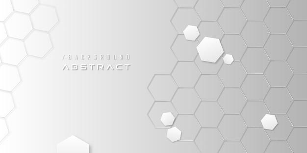 Abstracte zeshoekige moderne minimalistische achtergrond Premium Vector