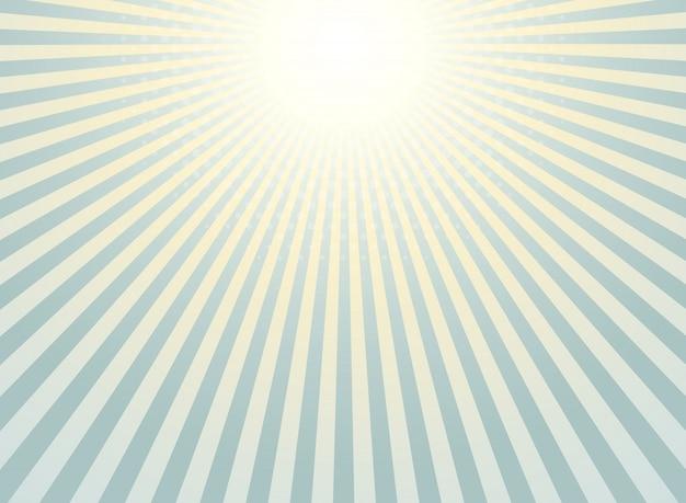 Abstracte zonnestraalachtergrond Premium Vector