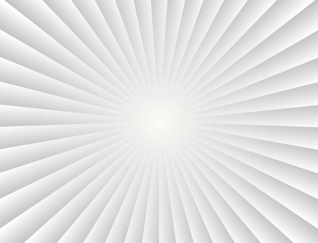 Abstracte zonnestralen gradiënt stralen op witte achtergrond Premium Vector