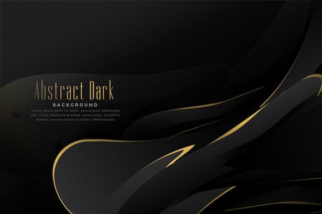 Abstracte zwarte en gouden achtergrond Gratis Vector