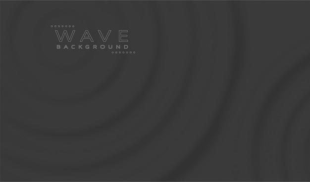 Abstracte zwarte golven achtergrond Premium Vector