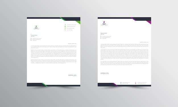 Abtract briefpapier template Premium Vector