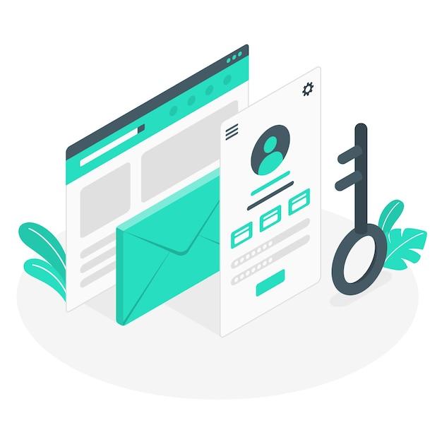 Account concept illustratie Gratis Vector