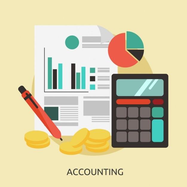 Accounting achtergrond ontwerp Gratis Vector