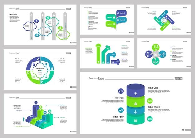 Acht recruitment slide templates set Gratis Vector