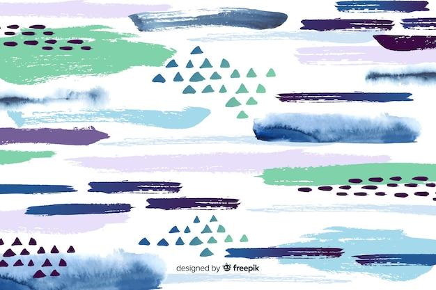 Achtergrond abstracte penseelstreken Gratis Vector