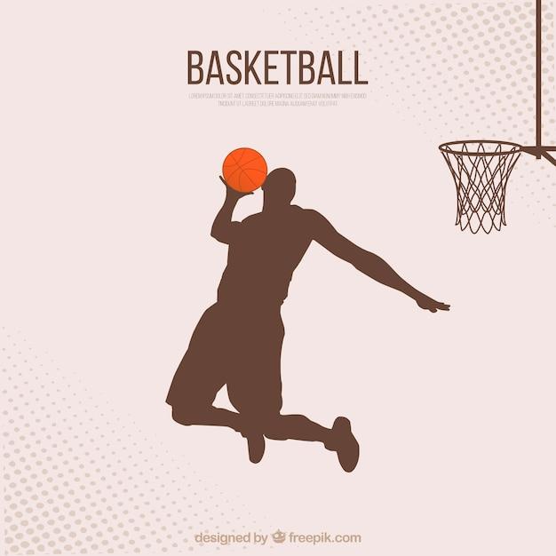 Achtergrond basketbalspeler Gratis Vector