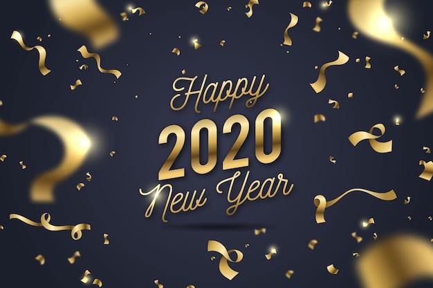Achtergrond confetti nieuwjaar Gratis Vector
