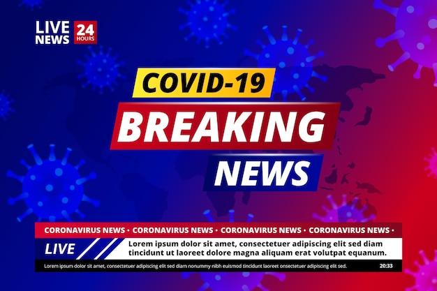 Achtergrond coronavirus breaking news Premium Vector