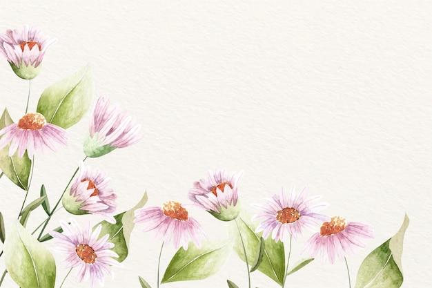 Achtergrond floral aquarel met zachte kleuren Gratis Vector