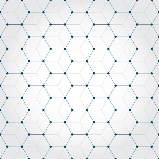 Achtergrond gemaakt van octagons Gratis Vector