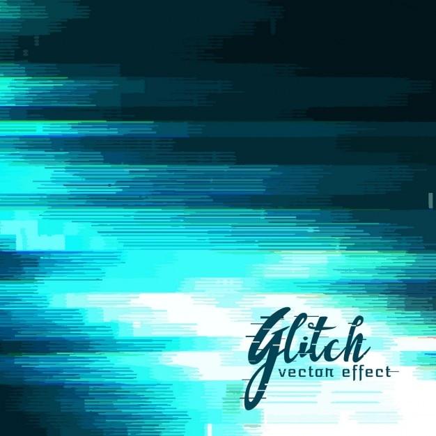 Achtergrond in blauwe tinten, glitch effect Gratis Vector