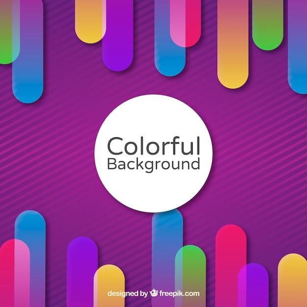 Achtergrond in verschillende kleuren Gratis Vector