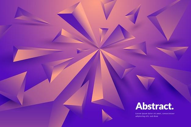 Achtergrond met 3d geometrische vormen Gratis Vector