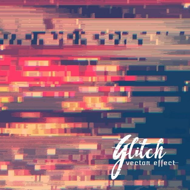 Achtergrond met glitch effect Gratis Vector