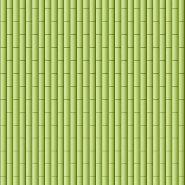 Achtergrond met groen bamboehout Gratis Vector