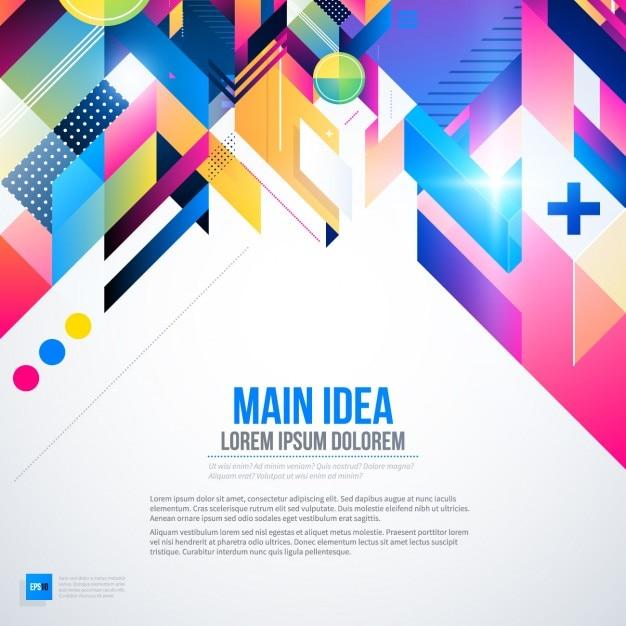 Achtergrond met heldere kleuren en abstracte stijl Gratis Vector