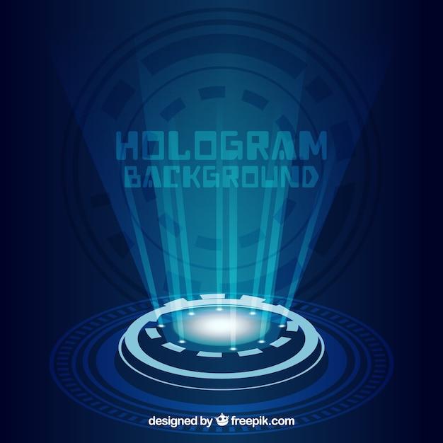 Achtergrond met hologramontwerp Gratis Vector