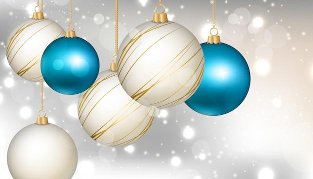 Achtergrond met kerstboom elementen Premium Vector