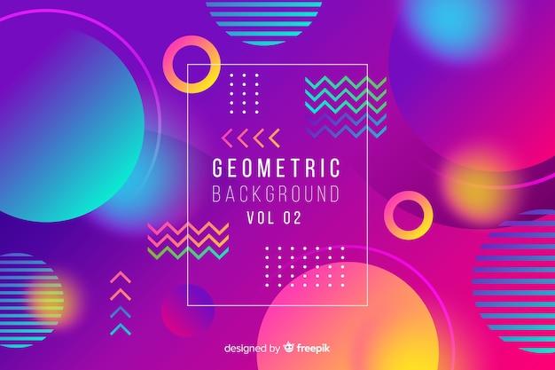 Achtergrond met kleurovergang abstracte geometrische vormen Gratis Vector
