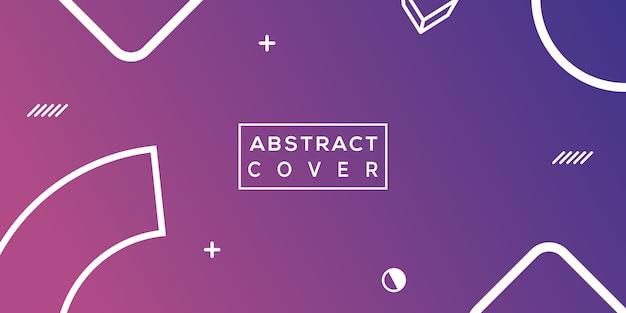 Achtergrond met kleurovergang abstracte vorm Premium Vector