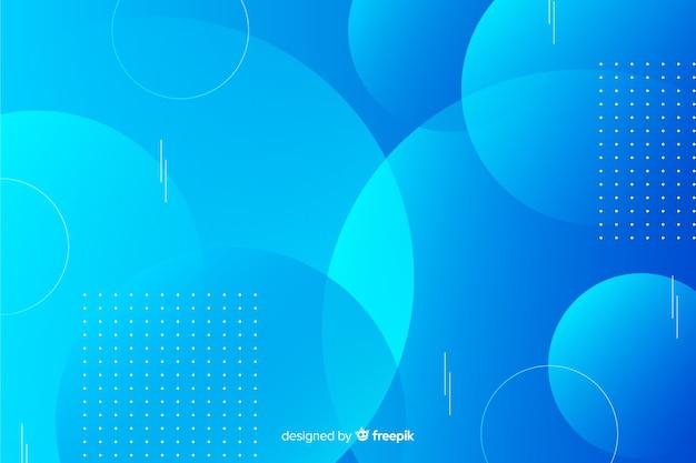 Achtergrond met kleurovergang blauwe geometrische vormen Gratis Vector