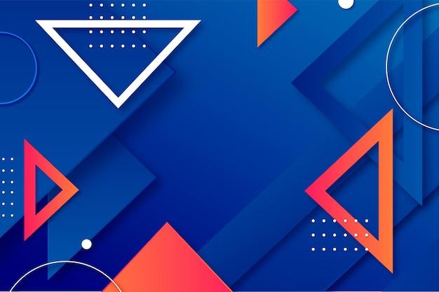 Achtergrond met kleurovergang driehoeken Gratis Vector