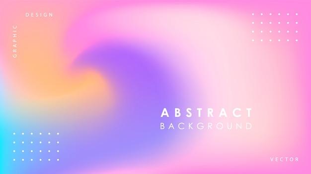 Achtergrond met kleurovergang met abstracte vormen Premium Vector
