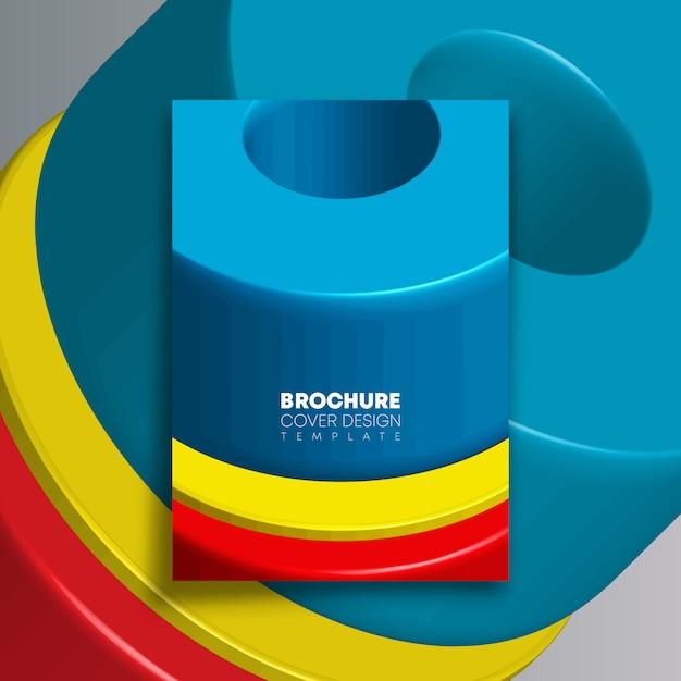 Achtergrond met kleurrijke geometrische vormen voor flyer, poster, brochureomslag, typografie of andere drukproducten Premium Vector