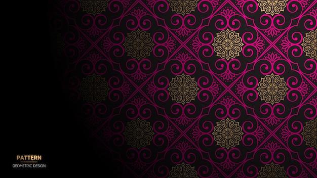 Achtergrond met mandala-ontwerp voor yoga of meditatie Gratis Vector