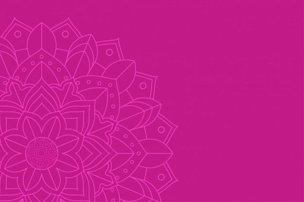 Achtergrond met mandala-ontwerp Gratis Vector