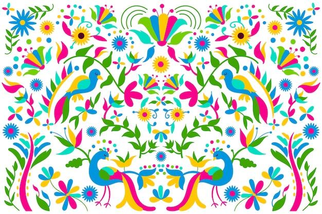 Achtergrond met mexicaans thema Gratis Vector