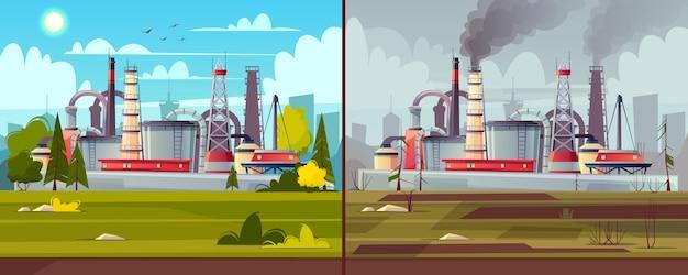 Achtergrond met milieuvervuiling Gratis Vector