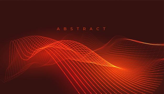 Achtergrond met oranje of rode gloeiende lijnen Gratis Vector