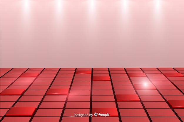 Achtergrond met realistische kubussenvloer Gratis Vector