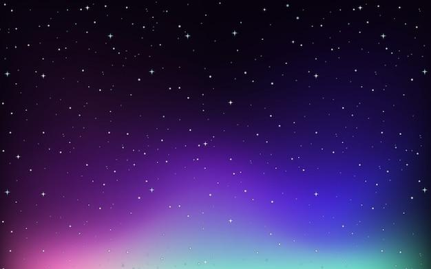 Achtergrond met sterren aan de hemel Gratis Vector