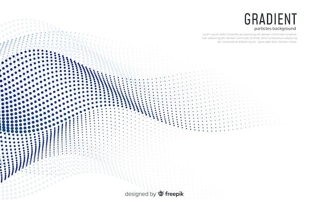 Achtergrond met verlooppartikels Gratis Vector