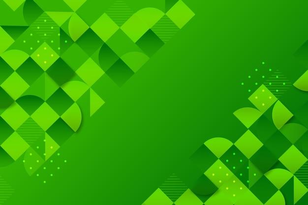 Achtergrond met verschillende groene vormen Gratis Vector