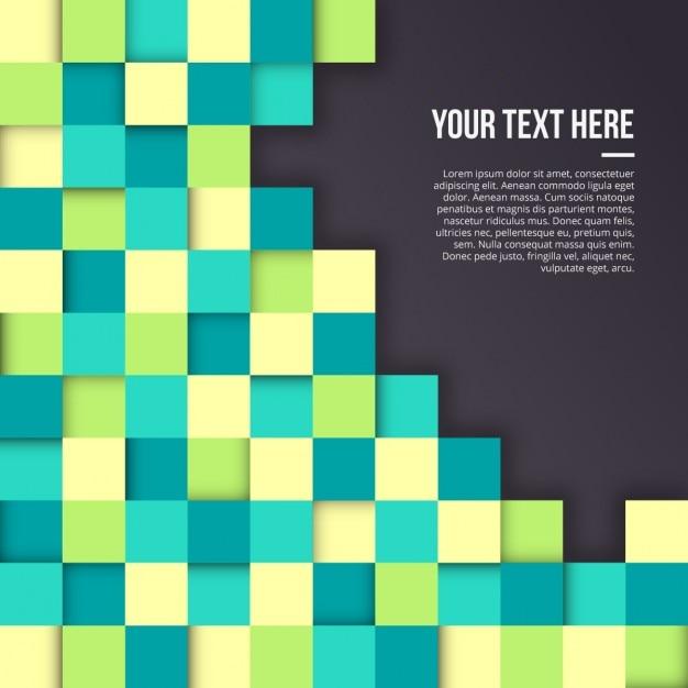 Achtergrond met vierkanten in verschillende kleuren Gratis Vector