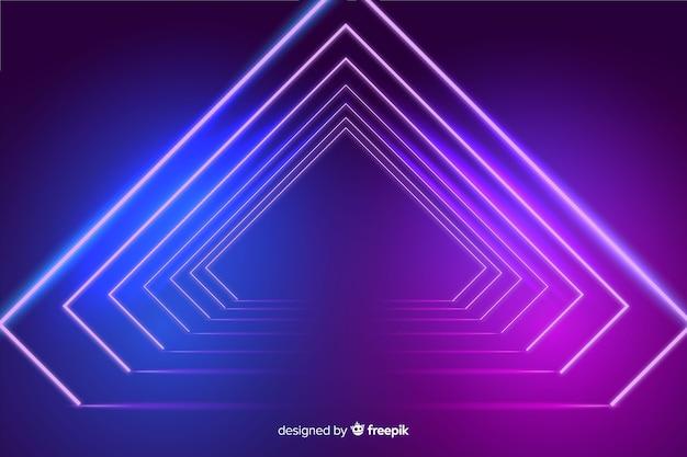 Achtergrond neonlichten podium Gratis Vector