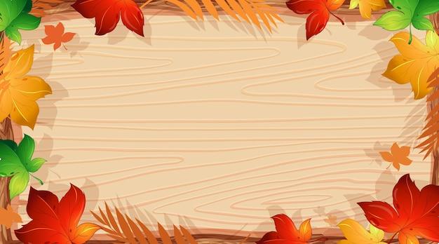 Achtergrond ontwerpsjabloon met oranje bladeren Gratis Vector