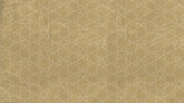 Achtergrond - oosters patroon met islamitische sterren, arabisch ornament op oud papier Premium Vector