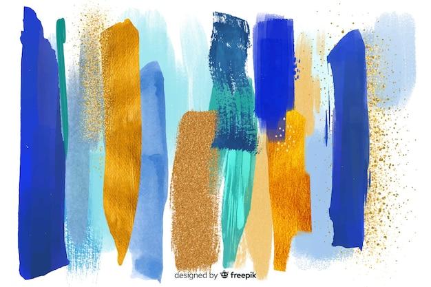 Achtergrond penseelstreken abstract Gratis Vector