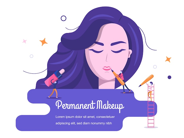 Achtergrond permanente make-up Premium Vector