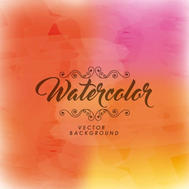 Achtergrond pictogram. aquarel ontwerp. vector afbeelding Premium Vector