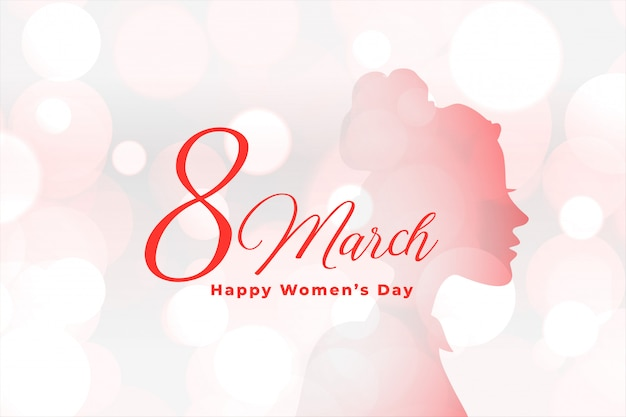Achtergrond van de dag de elegante bokeh van mooie gelukkige vrouwen Gratis Vector